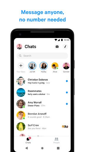Messenger - مراسلات نصية ومكالمات فيديو بالمجان - صورة للبرنامج #2
