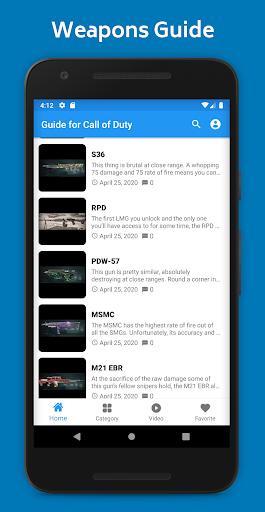 Guide for Call Of Duty Mobile - صورة للبرنامج #5