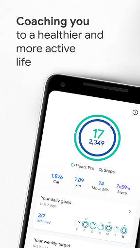 Google Fit - صورة للبرنامج #1