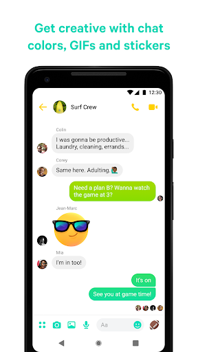 Messenger - مراسلات نصية ومكالمات فيديو بالمجان - صورة للبرنامج  #5