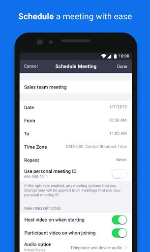ZOOM Cloud Meetings - صورة للبرنامج #5