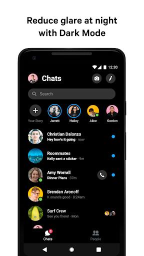 Messenger - مراسلات نصية ومكالمات فيديو بالمجان - صورة للبرنامج  #3