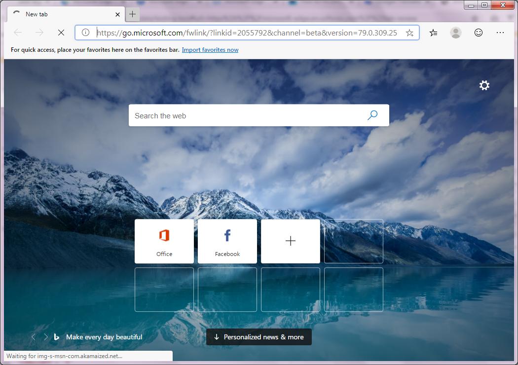 Microsoft Edge - صورة للبرنامج #1